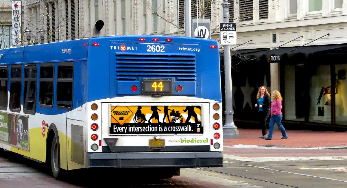 Pedestrian Safety Bus Ad