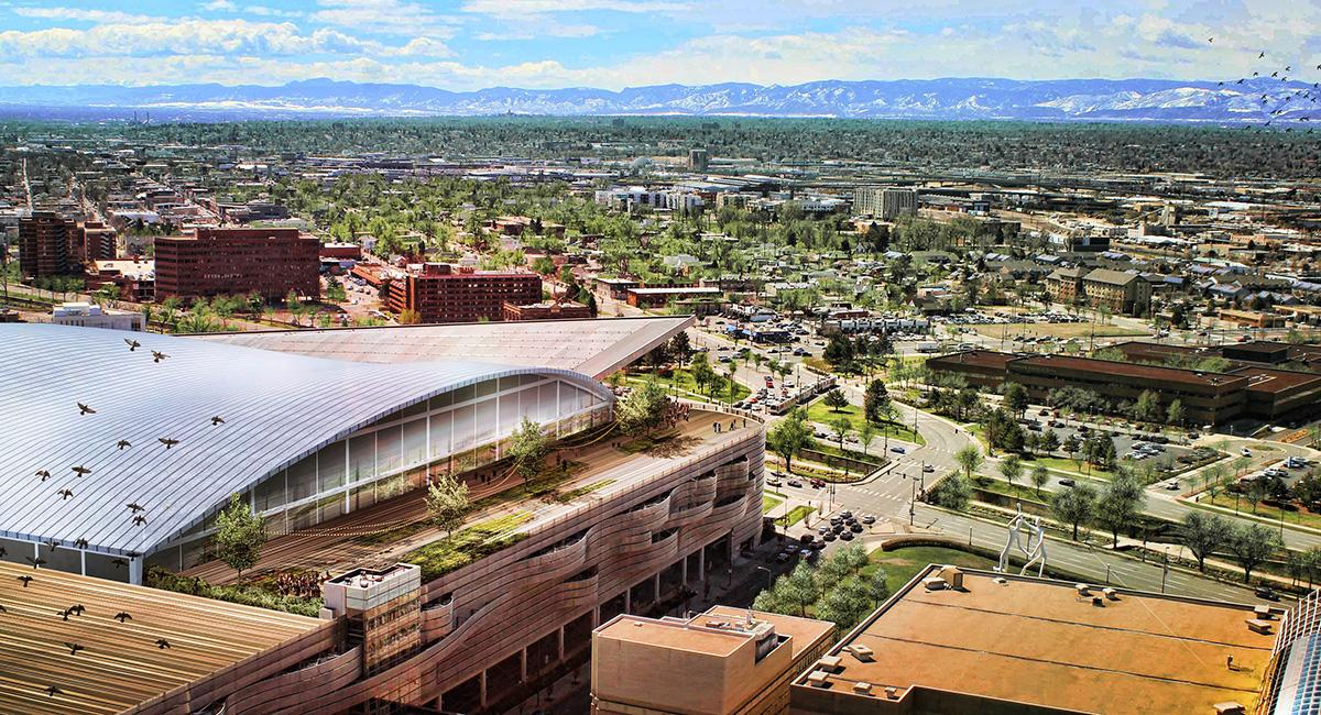 Colorado Convention Center Aerial View