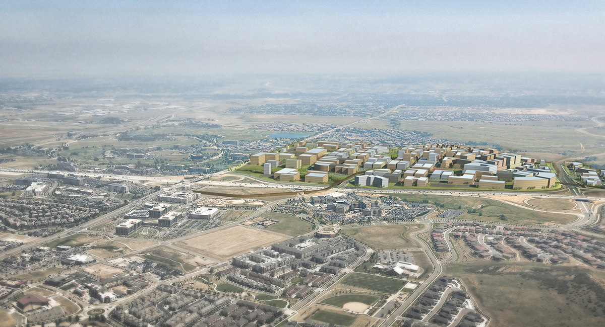 RidgeGate East Village 3D Aerial View