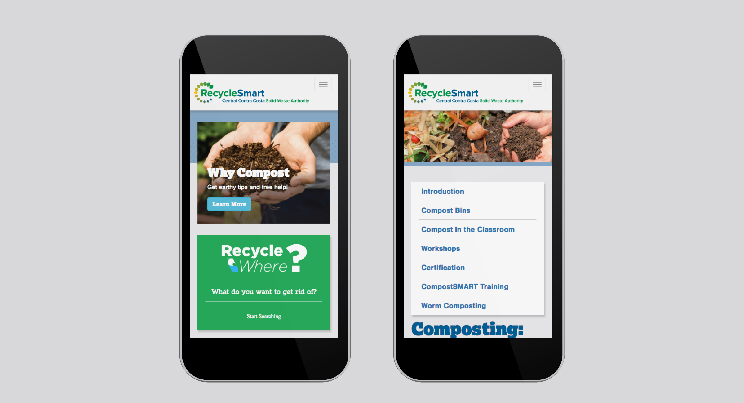 RecycleSmart Mobile Website