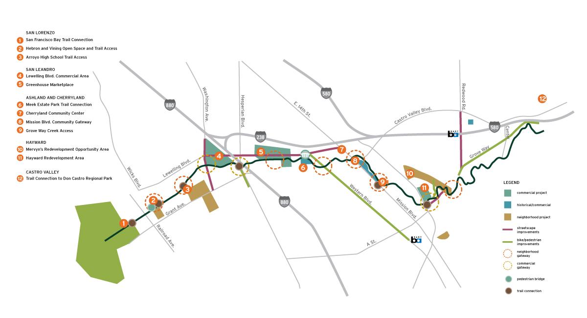 San Lorenzo Creek Map
