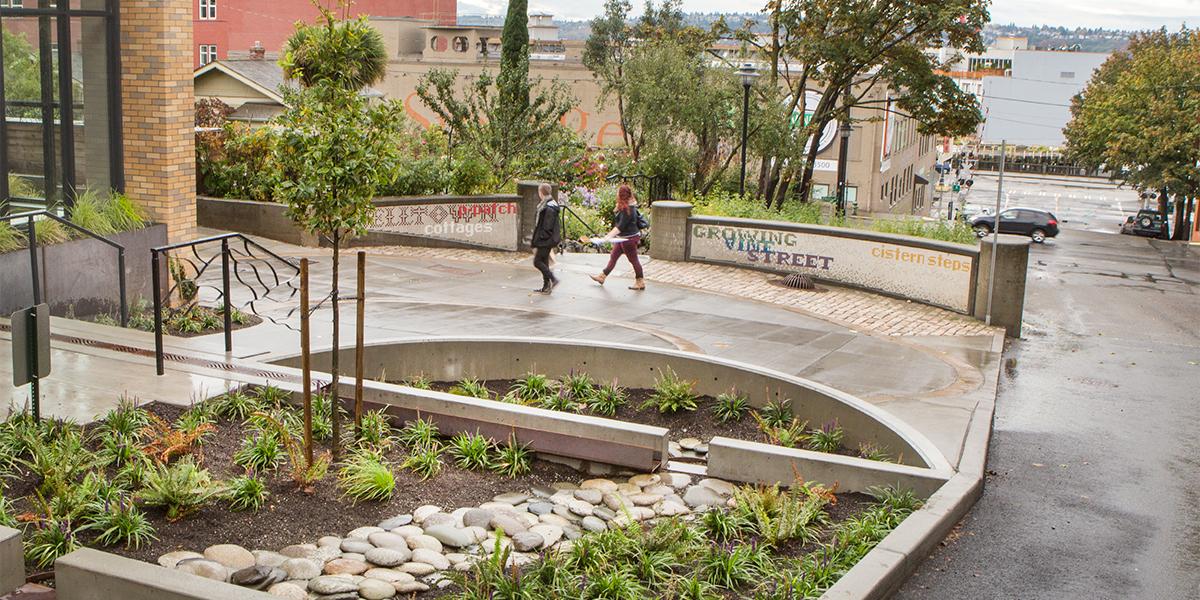 Vine Street Cistern Steps