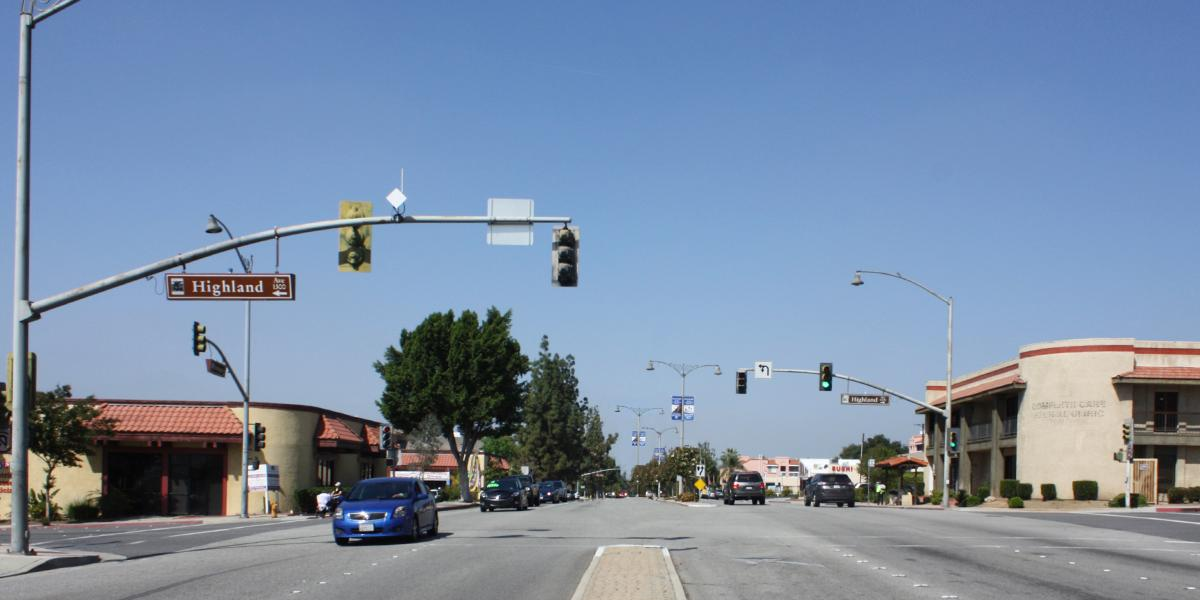 Existing huntington and highland intersection